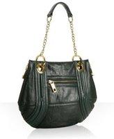 forest green leather 'Ollie' shoulder bag