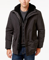 Calvin Klein Men's Hooded Coat with Faux Sherpa Lining