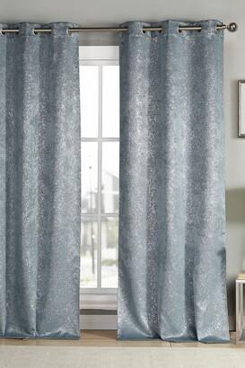 Duck River Textile Maddie Metallic Specks Blackout Curtain Set - Slate Blue
