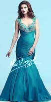 Mac Duggal Fitted Embellished Trumpet Prom Dress