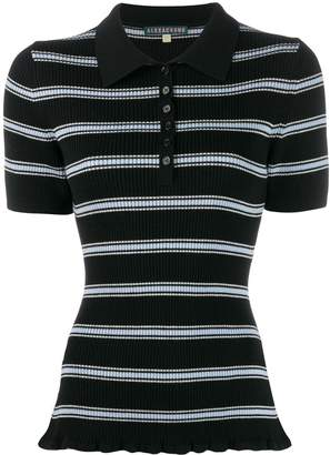 ALEXACHUNG Alexa Chung striped polo shirt