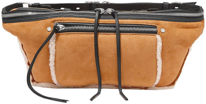 Rag & Bone Large Elliot Shearling-trimmed Suede Belt Bag