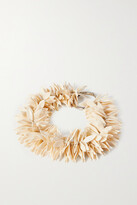 Thumbnail for your product : Dries Van Noten Beaded Silver-tone Necklace - Ivory
