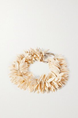 Dries Van Noten Beaded Silver-tone Necklace - Ivory