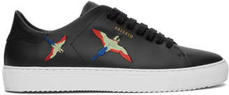 Axel Arigato Black and Red Bird Clean 90 Sneakers