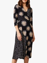 Phase Eight Oketa Mixed Print Dress, Navy/Multi