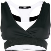 Karl Lagerfeld Paris cropped V-neck top
