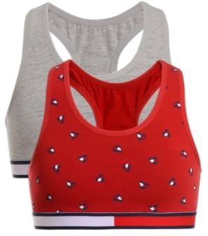 Tommy Hilfiger Little & Big Girls 2-Pk. Heart Flag Cropped Bra
