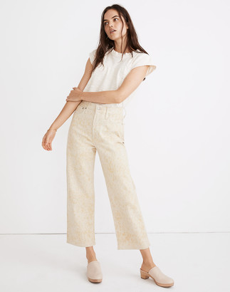 Madewell x Botanical Colors Dyed Slim Wide-Leg Jeans