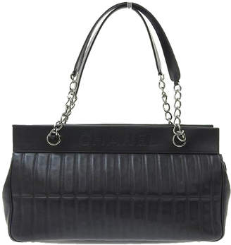 Chanel Black Chocolate Bar Leather Chain Shoulder Bag