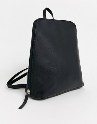 Asos Design DESIGN clean leather backpack