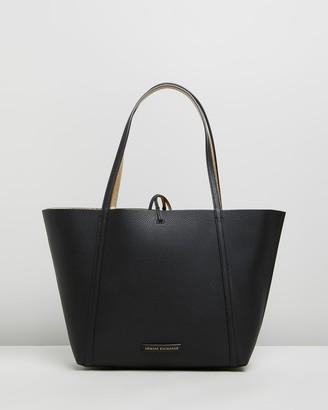 Armani Exchange Pebble PU Reversible Tote Bag