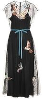 RED Valentino Appliquéd tulle dress