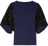 By Malene Birger Glam Sequin-Paneled Cady Top