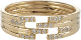 Jennie Kwon Women's Pavé Diamond & Gold Stacked Cutout Ring