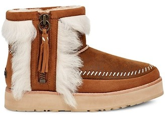 UGG Fluff Punk Shearling Leather Booties