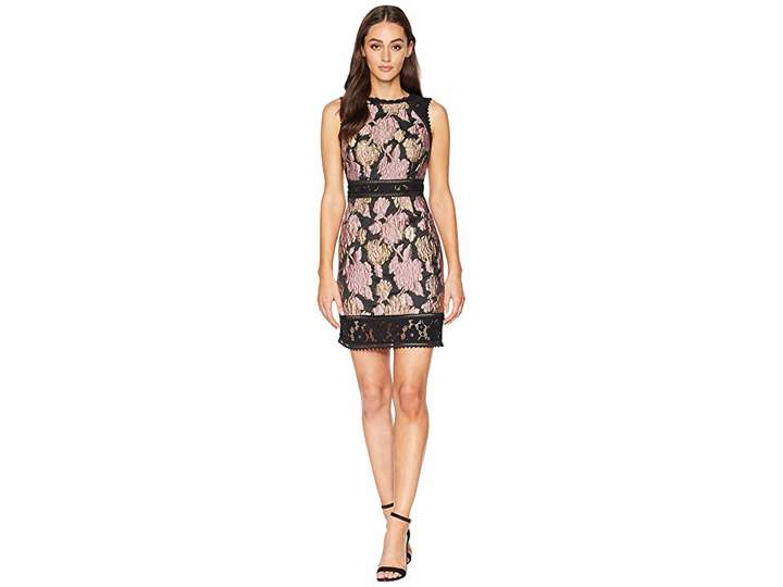 Laundry by Shelli Segal Jacquard with Lace Trim