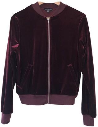 American Apparel \N Burgundy Velvet Jacket for Women