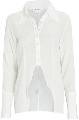 The Line By K Leomie High-Low Button-Down Shirt