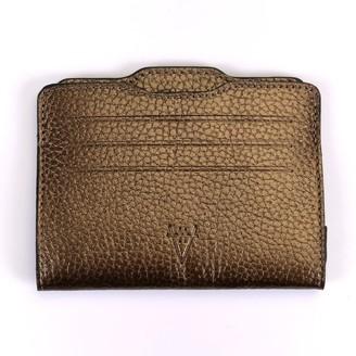 Atelier Hiva Double Card Holder Metallic Brown & Metallic Brown