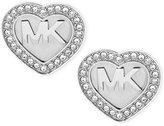 Michael Kors Logo Heart Pavé Stud Earrings