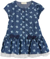 First Impressions Butterfly-Print Denim Dress, Baby Girls (0-24 months), Created for Macy's