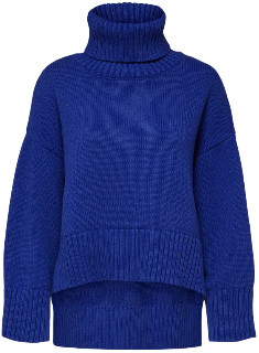 Selected Clematis Blue Loose Knitted Jumper - xs
