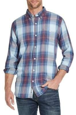 Weatherproof Vintage Plaid Flannel Button-Front Shirt