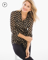 Chico's Luxe Dot-Print Shirt