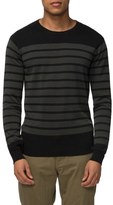Tavik Men's 'Micra' Trim Fit Stripe Crewneck Sweater