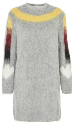 Off-White Fuzzy Arrow dress