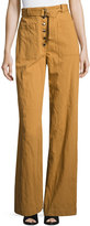 A.L.C. Trek High-Waist Belted Wide-Leg Pants, Biscotti