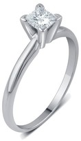 1/4 CT. T.W. IGL certified Princess-cut Diamond Solitaire Prong Set Ring in 14K Gold (HI-I3)