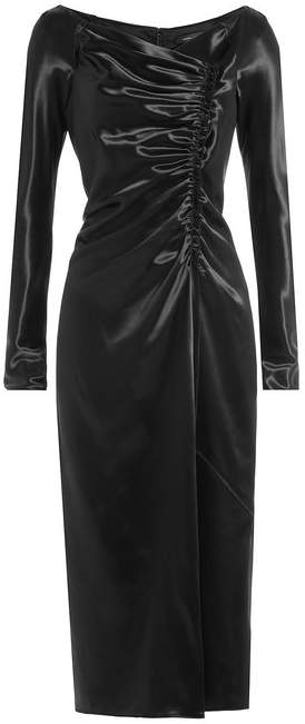Marc Jacobs Satin Dress with Gathered Detail