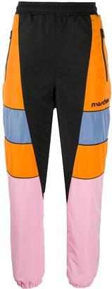 Moschino Broken Logo colour-block track pants
