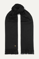 Thumbnail for your product : Loro Piana Opera Fringed Cashmere And Silk-blend Scarf - Black