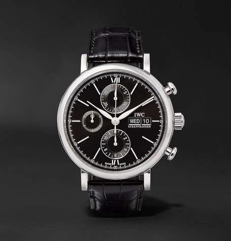 IWC SCHAFFHAUSEN Portofino Chronograph 42mm Stainless Steel And Alligator Watch