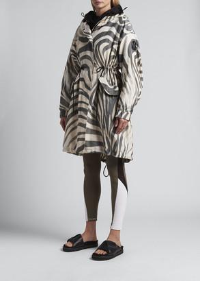 Moncler Achird Zebra Stripe Long Jacket