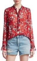 Rag & Bone Susan Silk Floral Blouse