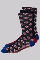 Ted Baker Red Multi 3 Pack Sock Gift Box