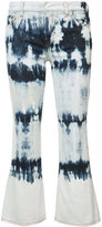 Faith Connexion tie dye kick flare jeans - women - Cotton/Spandex/Elastane - 25