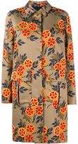 MSGM Floral Printed Coat - women - Cotton/Polyester/Viscose - 40