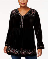 Style&Co. Style & Co Plus Size Embroidered Tunic, Created for Macy's