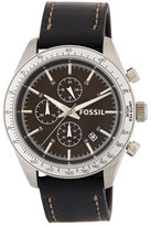 Fossil Men&s Leather Strap Watch