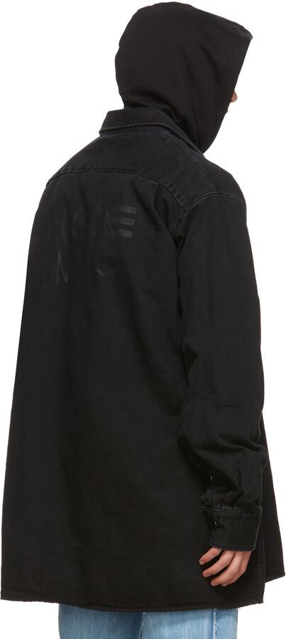 Thumbnail for your product : Raf Simons Black Denim Zip Pocket Big Fit Shirt