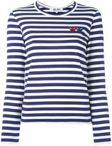 Comme des Garcons striped longlseeved T-shirt - women - Cotton - XS
