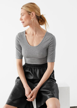 And other stories Scoop Neck Jersey T-Shirt