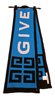 Givenchy Blue Cotton Scarves & pocket squares