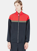 Emiliano Rinaldi Men's High-tech Training Jacket In Black And Red