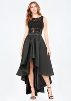 Bebe Penelope Lace Hi-Lo Dress
